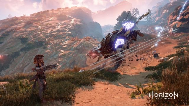 Fight gameplay - Horizon Zero Dawn