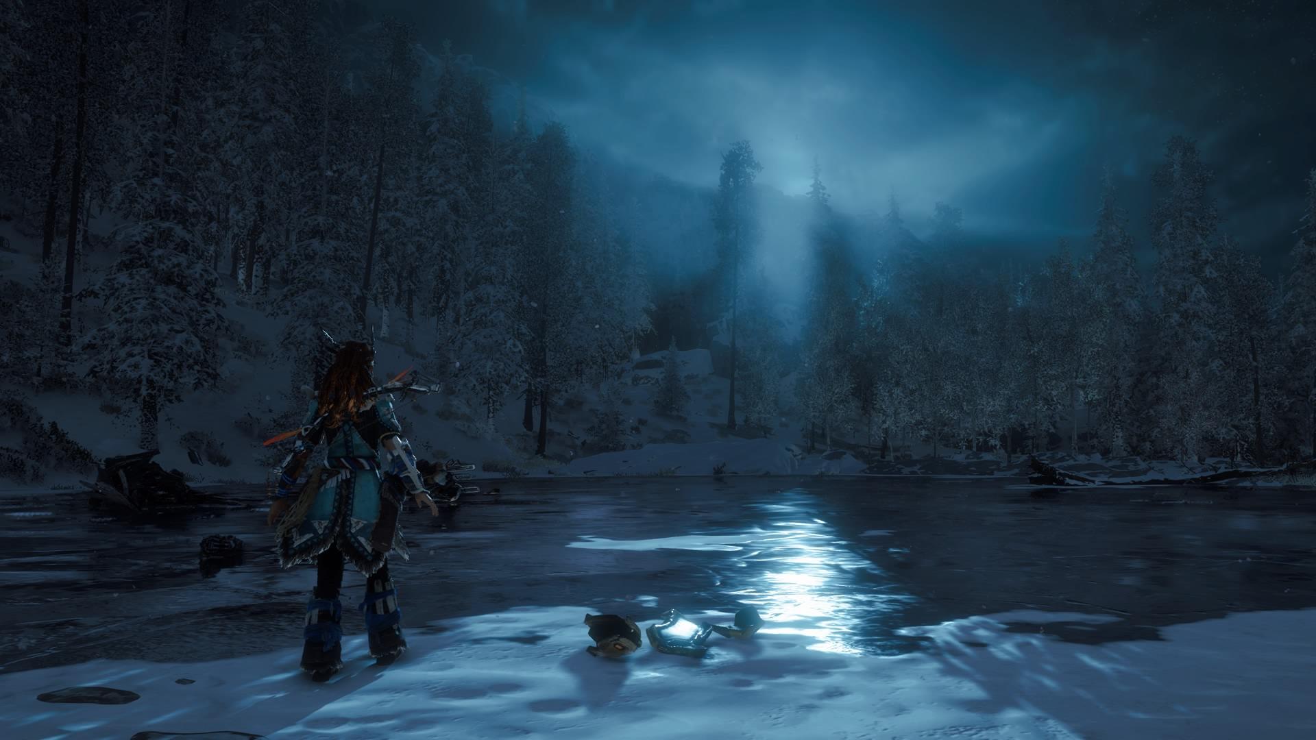 Horizon Zero Dawn frozen lake