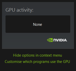 NVIDIA GPU activity