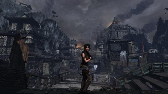 Lara Croft in Shanty Town.