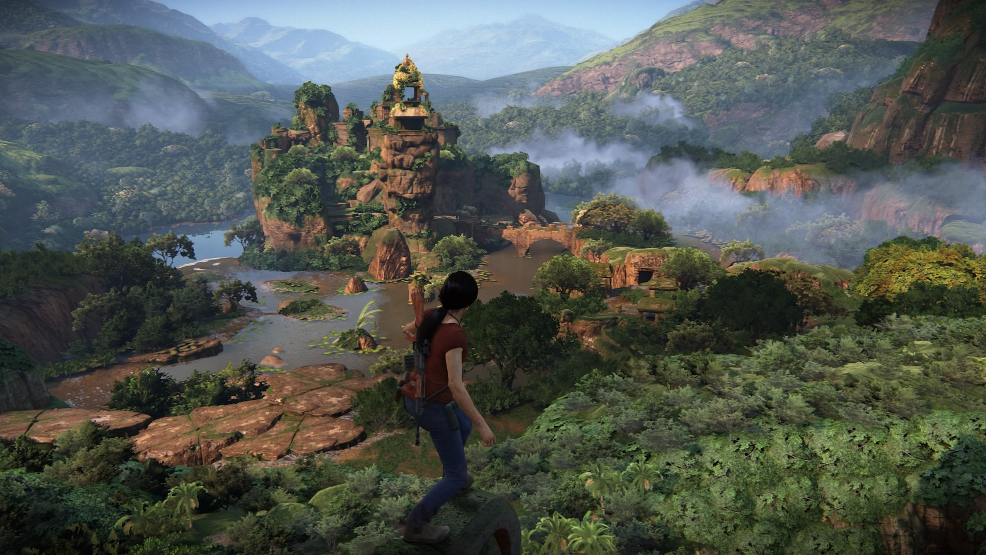 Beautiful landscape in Uncharted: The Lost Legacy.