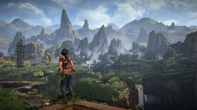 The mountains of India in Uncharted: The Lost Legacy.