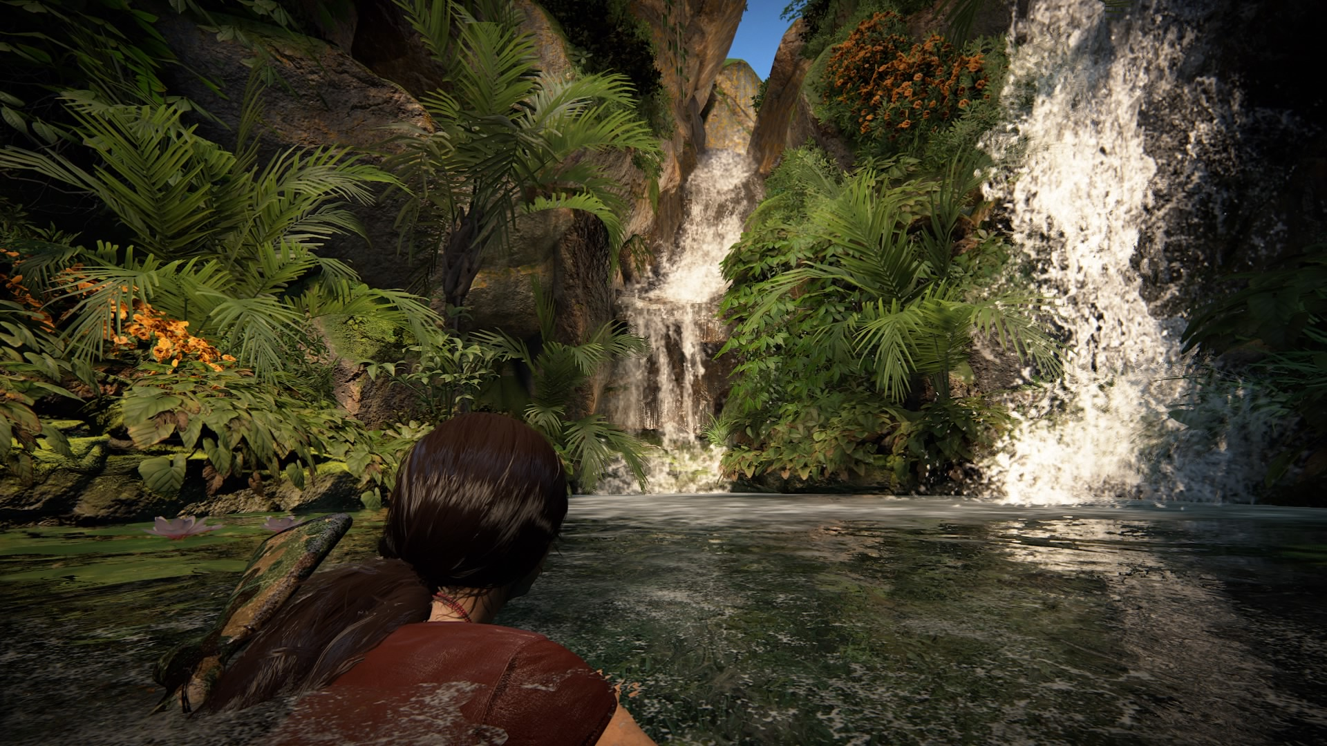 Water effects in Uncharted: The Lost Legacy.